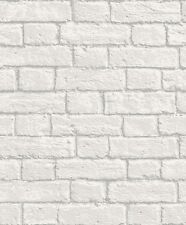 Faux Wall Glitter Mortar - Coloroll Glitter Brick White Wallpaper M1038