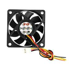 DC 12V 3-Pin 60x60x15mm PC Computer CPU System Sleeve-Bearing Cooling Fan 6015