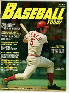 1977 Baseball Today Johnny Bench Magazine Previews & Predictions Cincinnati Reds