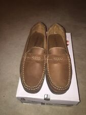 NEW - Hush Puppies Mens Finn Slip On Flat Casual Loafer Deck Shoes - Tan UK 11