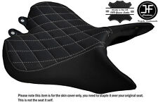 GREY DIAMOND ST CUSTOM FITS TRIUMPH SPEED TRIPLE R 16-17 FRONT VINYL SEAT COVER