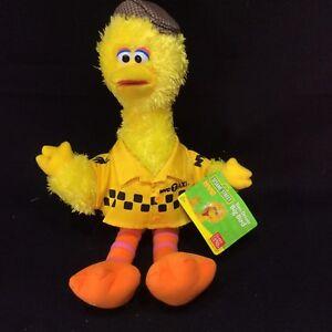Sesame Street Big Bird NYC Taxi Driver NWT 2009 Gund