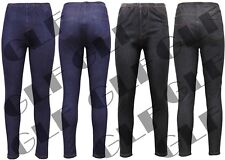 New Ladies Womens Stretchy Denim Look Skinny Jeggings Leggings Plus Size 8-28 UK