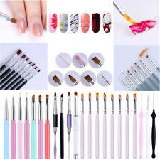 Acrylic Painting Pen Liner Drawing UV Gel Brush Dust Clean Pen Nail Art Tool Set