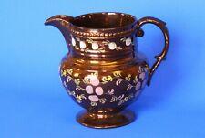 Antique Vintage Victorien Cuivre Lustre carafe Chip 13 cm * [17128]