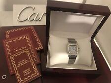 Cartier Santos-Automatique Hommes Montre en Acier Inoxydable Inc certificat 9.5/10