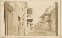 Original Antique CDV Photo St. Augustine, Florida, Charlotte Street ~ mid-1800s