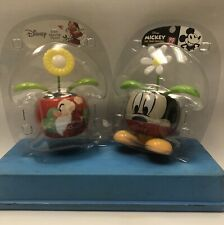 DISNEY SOLAR POWERED DANCING FLOWER MICKEY MOUSE AND GRUMPY Set Of 2