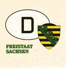 Aufkleber Freistaat Sachsen - D - Landeswappen - transparent - Sticker (144)