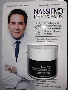 New & Sealed Nassif MD Detox Pads Complexion Perfecting 60 Count