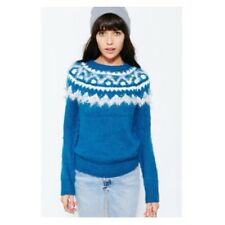 Urban Outfitters *BDG* Cozy Blue Fair Isle Crew Neck Sweater Sz M Nwot