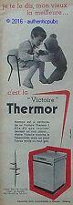 PUBLICITE THERMOR VICTOIRE CUISINIERE GAZINIERE OURS TEDDY BEAR DE 1958 AD PUB