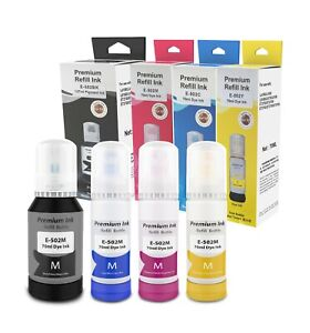 Epson Compatible Refill Bottle Ink Replacement for T502 502 Works for Expression