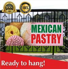 Mexican Pastry Banner Vinyl Mesh Banner Sign Bakery Cake Cookies Shop