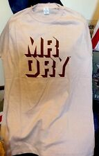 Vintage 70s MR. DRY 50/50% Cotton/ Polyester Thin T Shirt. Size L Made In USA.