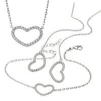 Goldmaid Collier, Armband oder Ohrringe 925 Silber Herz mit weißen Zirkonia NEU