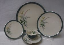 FLINTRIDGE china TRUE LOVE PEACOCK pattern 5-piece PLACE SETTING