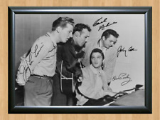 Johnny Cash Elvis Presley Carl Perkins Signed Autographed A4 Photo Memorabilia