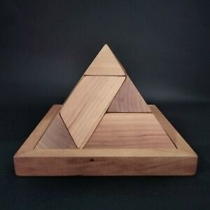 KING TET PYRAMID BY RHOMBICS~ BRAINTEASER WOODEN PUZZLE FOR CHILDREN/ADULTS