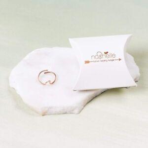 NASHELLE 14K Fill Rose Gold Wave Ring NEW! $48 Adjustable