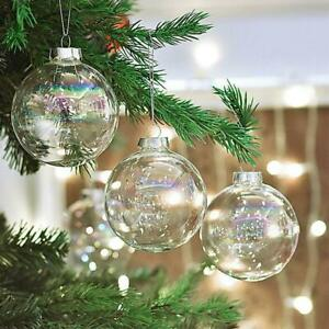 1pcs Clear Glass Ball Fillable Baubles Christmas Wedding Tree Hanging Ornament