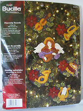 Bucilla  HEAVENLY SOUNDS Felt Christmas Ornaments Kit #85273 Sealed