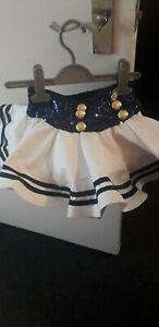 WEISSMAN Tutu Skirt White/Blue Size SC Age 6 New BOXING DAY SALE!!!! £11.99