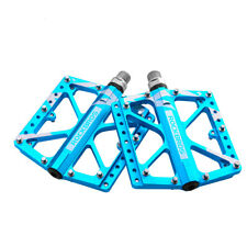 RockBros Cycling Wide Feet MTB BMX Bike 3 Sealed Bearing Bicycle Pedals Blue