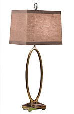 "LAMPS -  ""MADISON HEIGHTS"" CONTEMPORARY TABLE LAMP - ANTIQUE BRASS FINISH"