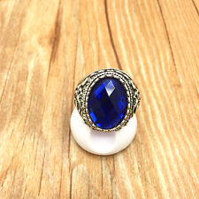 NEW Vintage Jewelry 316L Stainless Steel Fashion Design Blue Ring Size 10 W12S10
