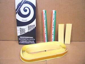 New-Old-Stock Ambrosio Padded Bar Tape - Yellow