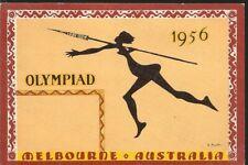 O) 1956 Australia, Olympiad In Melbourne 1956-Javelin Throw-Sport, Xf