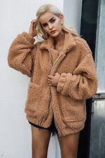 Faux Fur Fleece Jackets for Women