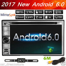 "Android 6.0 HD 6.2"" Double 2Din 3G-Wifi Car GPS Nav DVD Player BT Indash Radio"