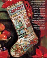 ✔️ Mom's Mother's HOLIDAY KITCHEN Christmas Stocking Kreinik Cross Stitch Chart