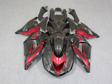 Fit for Kawasaki 2006-2011 ZX14R Black Red Plastic Injection Fairing Kit y005