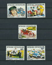 Racing Cars Central Africa Scott # 470 - 474 Complete Set (CTO Cancelled)