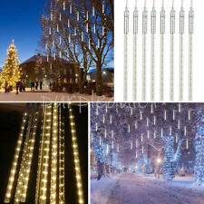 192 288 LEDs Meteor Shower Lights Falling Rain Icicle 8 Tubes XMAS Party Outdoor