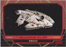 STAR WARS GALACTIC FILES SERIES 1 RED PARALLEL #271 MILLENIUM FALCON 32/35 RARE