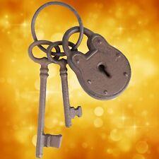 Eisenschlüssel Zier Set 5 x Dorn Eisen Ring antik Vintage Deko Schlüssel Bund 2