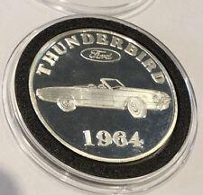 1964 Ford Thunderbird Adesa Wisconsin 1 Troy Oz .999 Fine Silver Round Rare Coin
