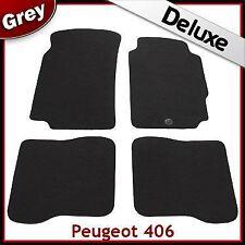PEUGEOT 406 1995 - 2000 2001 2002 2003 2004 Tailored LUSSO 1300g TAPPETINI AUTO GRIGIO