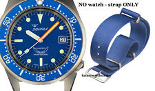ULTIMATE BALLISTIC NYLON BLUE NATO® STRAP FOR SQUALE 50 ATMOS DIVERS WATCH  20mm