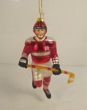 Vintage Hockey Player Christmas Ornament