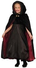 Gothic Vampiress Hooded Cape Vampire Fancy Dress Halloween Costume Accessory