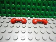 Lego 2 Red bar 1x3 smooth phone handset NEW