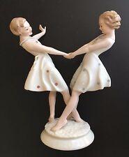 The Hutschenreuther Art Deco Dancing Girls German Porcelain Figurine
