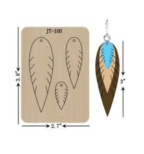 Leather  Earring Cutting  Die / Sizzix Compatible - JT100