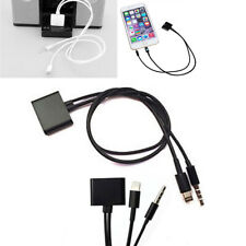 30Pin iPhone 4S Dock to Micro USB Audio Adapter Charger Cable Samsung Apple IOS