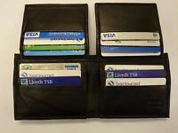 Soft Leather Gents Wallet with 18 Credit Cards Slots Black Large Size
